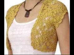 How to crochet bridal bolero Chaleco jacket for beginners para principiantes free tutorial Crochet Bolero Pattern, Crochet Jacket, Crochet Cardigan, Crochet Shawl, Easy Crochet, Knit Crochet, Braidless Crochet, Crochet Buttons, Crochet Potholders