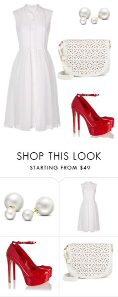 """Untitled #1242"" by twil24 ❤ liked on Polyvore featuring Allurez, Diane Von Furstenberg, Schutz and Under One Sky"