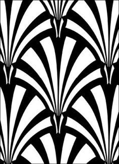 Art Deco Print Pattern Patroon Stencil Patronen Drukpatronen
