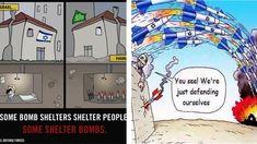 IDF and Hamas twitter cartoons: Israeli military propaganda versus pro-Palestinian cartoon