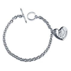 Silver-Sterling-925-Bracelet-Friendship-Heart-Gift-Box-TodayTomorrow-Forever