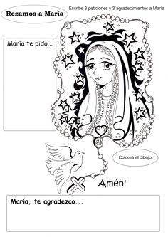 Teaching Religion, Religion Catolica, I Love You Lord, Bible Resources, Hail Mary, Learning Spanish, Activities For Kids, Pray, Clip Art