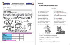 Examen1ergrado3erbloqueEP | Educación Primaria