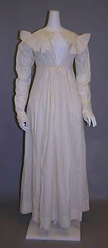 Collection | The Metropolitan Museum of Art..Dress Date: 1823 Medium: cotton
