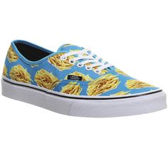 Vans Authentic ($33) ❤ liked on Polyvore featuring shoes, sneakers, blue fries late night, trainers, unisex sports, unisex shoes, laced shoes, blue sneakers, lacing sneakers and vans footwear