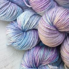 This was one of the most popular yarn clubs from 2015. 'Hydrangea ' on a merino silk base. I've just opened some more yarn club slots do if you'd like to join us for next year subscribe now. Link in profile.