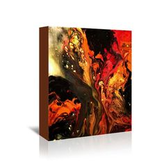 "Burning Desire $89.99 Product Details — Original Piece  — Gallery-Wrapped Canvas  Colors Multi Colored Materials Gallery Wrapped Canvas Measurements Hangs 1.5"" off wall Origin United States"