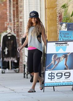 Celebs in cute gym clothes: Vanessa Hudgens