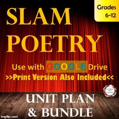 Teach students to analyze, write, and perform slam poetry with confidence using these teaching tools and no prep activities.  Visit this link to learn more!  https://www.teacherspayteachers.com/My-Products/Category%3A274110
