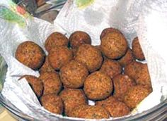 Ta'amia (Egyptian Falafel): Classic Egyptian recipe for a snack of broad (fava) beans made into a paste with spies and onion that are shaped into balls or thick disks and fried before serving