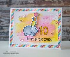 Tracy Mae Design: Hippo Birdie to You || Lawnscaping Challenge