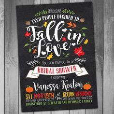 Bridal Shower Invitation Fall Bridal Wedding by CLaceyDesign