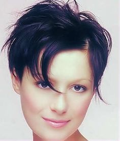 The uneven ends are ruffled around the head to give this hairstyle extra bounce and body. - See more at: http://www.short-hairstyles.com/short/s85.htm#03