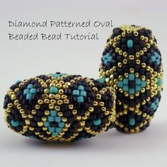 Peyote Beaded Bead Tutorial  instant download pdf by TheBeadedBead, $12.00