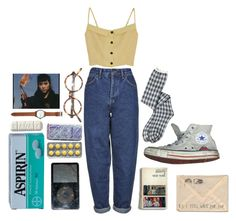 """buttons"" by ibeard ❤ liked on Polyvore featuring Boutique, Converse and Jack Spade"