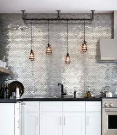Love this silver back splash!