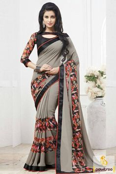 Feel comfort by wearing this grey casual georgette saree online shopping with low rate. Buy online this printed saree with free shipping and COD in India. Shop Now. #saree, #sarees, #sari, #casualsaree, #printedsaree, #dailywear, #officewear, #sareeonline, #buysaree, #formalwearsaree More : http://www.pavitraa.in/store/casual-saree/ Call / WhatsApp : +91-76982-34040 E-mail: info@pavitraa.in