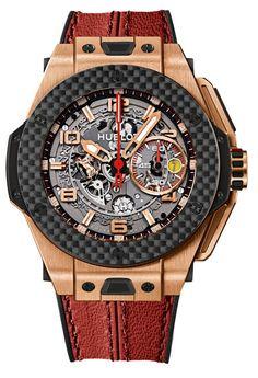 Hublot Big Bang Ferrari King Gold Carbon Watch red Baselworld 2013 Preview: Hublot Big Bang Ferrari Watches