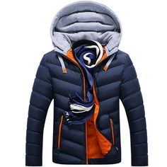 Cheap winter jacket men, Buy Quality parka parka directly from China outwear men Suppliers: Winter Jacket Men Hat Detachable Warm Coat Cotton-Padded Outwear Mens Coats Jackets Hooded Collar Slim Clothes Thick Parkas Men's Coats And Jackets, Winter Jackets, Couple Jacket, Moda Men, Winter Parka, Winter Coats, Winter Fashion Casual, Casual Winter, Moda Masculina