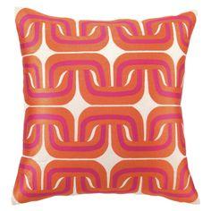 059ac0dae8dc Trina Turk Geo Links Pink/Orange Embroidered Pillow @Zinc_Door Down Pillows,  Linen Pillows