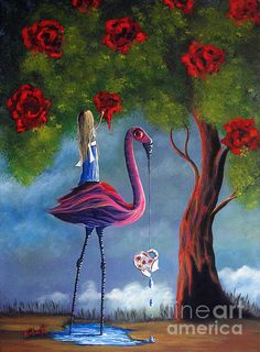 Alice in Wonderland. Painting the Roses Red. shawna erback