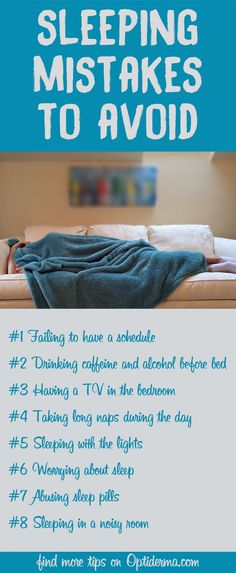 Do you have a TV in your bedroom? Do you worry about sleep? Learn how to avoid sleeping mistakes: http://www.optiderma.com/articles/sleeping-mistakes/