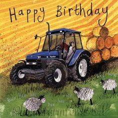 Birthday Old International Farm Tractor Card Happy Birthday Typography Happy Birthday Meme