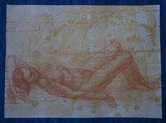 Nude. Sanguine, paper.