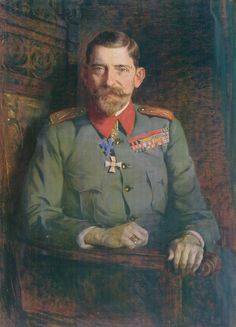 Portrait of King Ferdinand of Romania, 1925 by Paja Jovanović ( Vršac 1859 – Vienna I (Ferdinand Viktor Albert Meinrad – was King of Romania from 10 October 1914 until his death in Romanian Royal Family, Romanian Flag, History Of Romania, Local Painters, Falling Kingdoms, Queen Mary, Ferdinand, Pet Portraits, Vienna