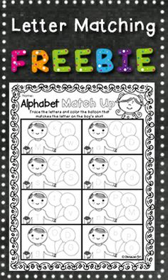 FREE RESOURCE:  Perfect for identifying and matching lower and upper case letters.  Also useful for focusing on correct letter formation.  Suitable for preschool.