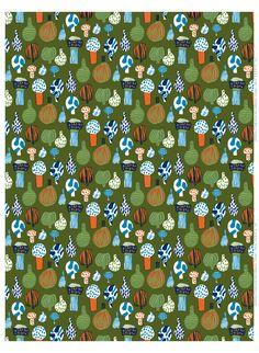 "Beautiful, organic design ""Kuukuna"" HW cotton fabric by Marimekko. Textile Prints, Textile Patterns, Textile Design, Fabric Design, Print Patterns, Pattern Design, Textiles, Pattern Books, Pattern Paper"