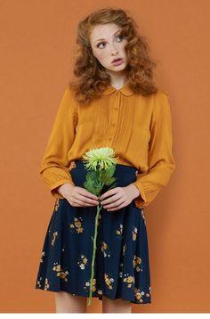 mujer vintage 40 flor