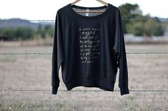 Comfy sweatshirt quoting Mr. Darcy in Charcoal and Gold lettering