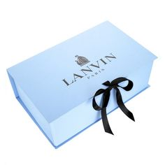 Lanvin shoe box. Love the ribbon and the colour...gorgeous!