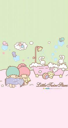 Sanrio Wallpaper, Star Wallpaper, Kawaii Wallpaper, Hello Kiti, Hello Kitty Pictures, Rainbow Sky, Star Party, Sanrio Characters, Little Twin Stars