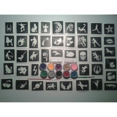 40 tattoo stencil for glitter tattoos / body art   10 glitter colours *** You can get additional details at the image link. (This is an affiliate link) #TemporaryTattoos