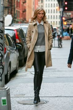 Swap out those standard-issue wool bottoms for leather leggings, instantly project coolness.    - MarieClaire.com