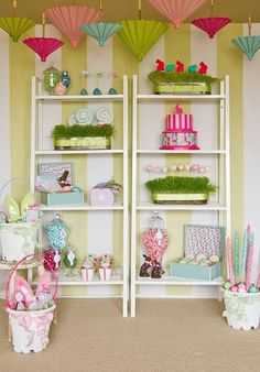 """This modern """"Easter Has Sprung"""" styled shoot and classic Easter Egg Hunt party was featured on Hostess with the Mostess and was created and. Bunny Party, Easter Party, Spring Party, Easter Crafts, Easter Decor, Easter Ideas, Egg Hunt, Party Themes, Party Ideas"""