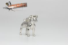 Hungary, Certificate, Terrier, Sculpture, Jewels, Sterling Silver, Pendant, Mini, Artist