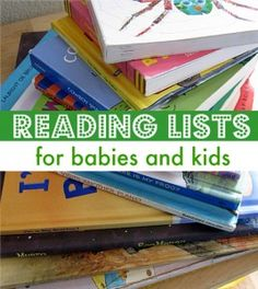 No Time For Flash Cards - pretty cool website with reading lists and crafts and activities for kids arranged by age, theme, and type.