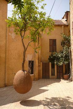 Hanging Tree - art, by Vladimir Viconart Landscape Architecture, Landscape Design, Garden Art, Garden Design, String Garden, Green Gables, Tree Art, Installation Art, Garden Inspiration