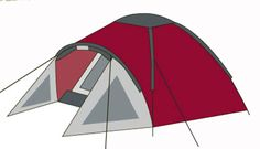 3-Persoons koepeltent (ROOD)