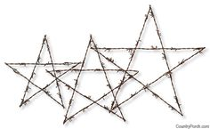 Barbed Wire Stars for your western style Christmas decorating