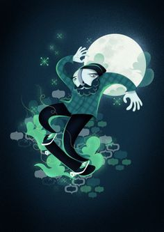Skateboard Dream by Leandro Lassmar, via Behance