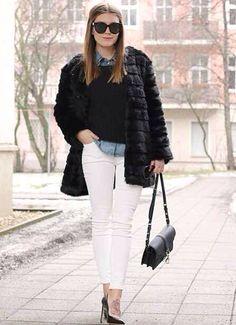 Pantalon blanco invierno