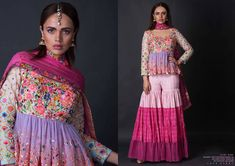 MODERN FANTASY Shop upbeat, contemporary clothing with intricate embroideries by Param Sahib. Indian Fashion, Retro Fashion, Women's Fashion, Chiffon Dress, Dress Skirt, Pakistan Street Style, Bride Sister, Indian Gowns Dresses, Mom Dress