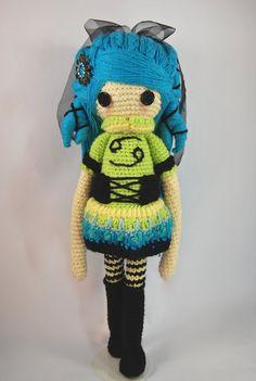 CANCER Zodiac Crochet Art Doll crab Sea by CreativeChaosMNL