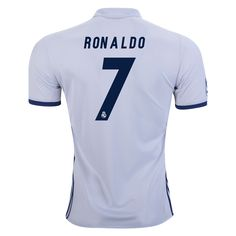 Real Madrid 16/17 Cristiano Ronaldo Home Soccer Jersey  | $112.45 | Holiday Gift & Stocking Stuffer ideas for the Real Madrid fan at WorldSoccerShop.com