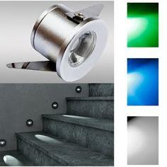FARETTO AD INCASSO SEGNAPASSO A LED 1W 220V BIANCO BLU O VERDE PUNTO LUCE SCALE - SEGNAPASSI - ILLUMINAZIONE LED - Negozio Online - Futur Print snc luceled.com