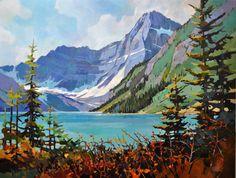 "'Chephren Lake' 36"" x 48"" Acrylic on Canvas by Randy Hayashi"